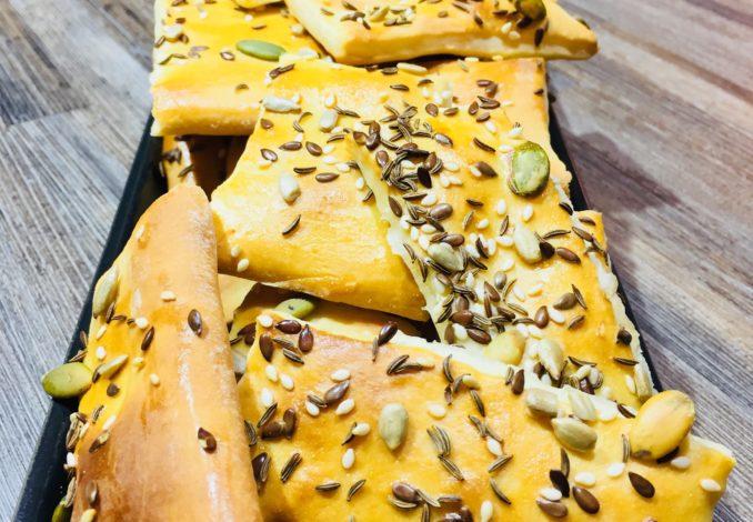 Biscuiți sărați cu semințe