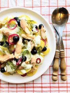 Salata de pastrav afumat