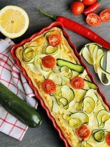 Tartă cu brânzeturi și zucchini