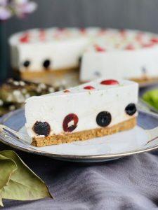 Cheesecake cu lime și cirese amarene