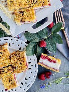 Prăjitura Olesia cu cocos și zmeură