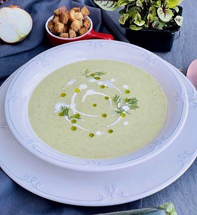 Supă cremă de dovlecel zucchini