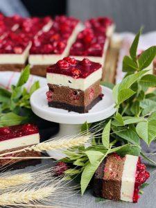 Prăjitura Maria cu zmeură și mascarpone